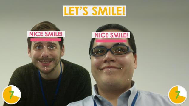 体験用デモアプリケーション 人物の喜びの瞬間を捉える(リテールテックJAPANで公開)