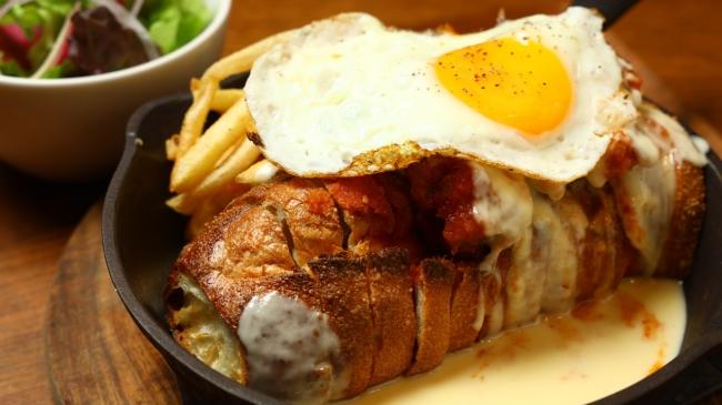 YURTの唐揚げ&バゲットチーズトースト「窯焼きパスコ 国産小麦のバゲット」を使って<11:00から終日ご提供>