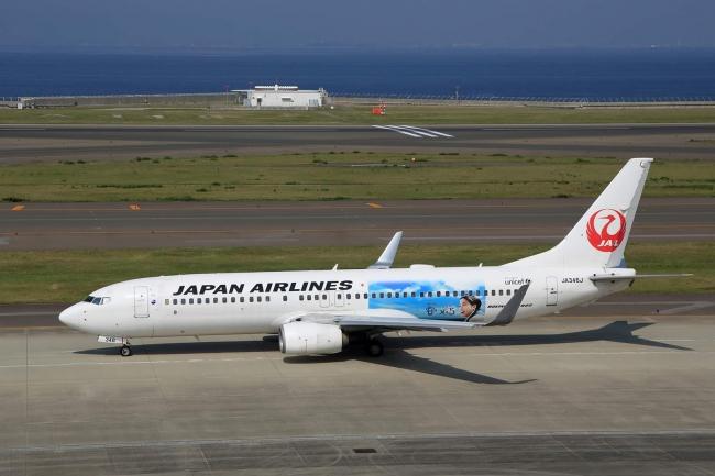 現在「なつぞら」の特別塗装機を運航している日本航空