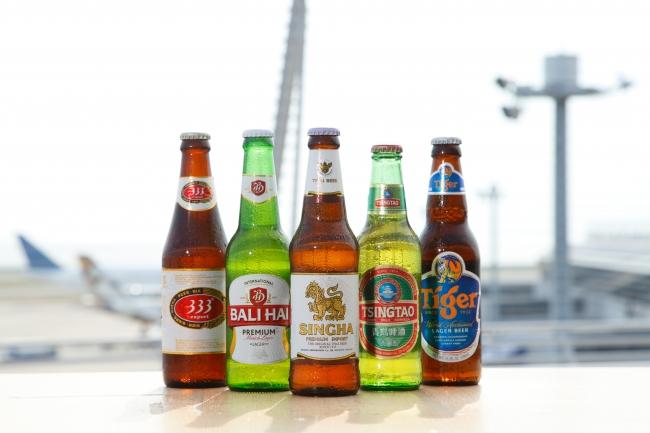 初登場のアジアビール各種620円