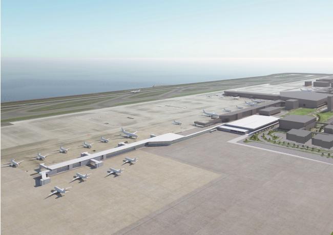 新ターミナルビル建設予想パース図