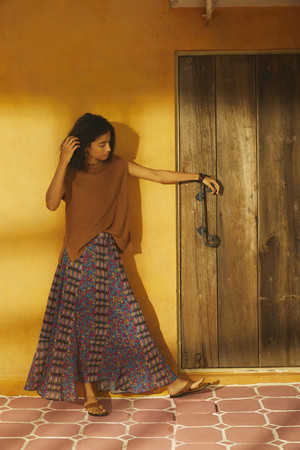 フラワープリントスカート¥15,950