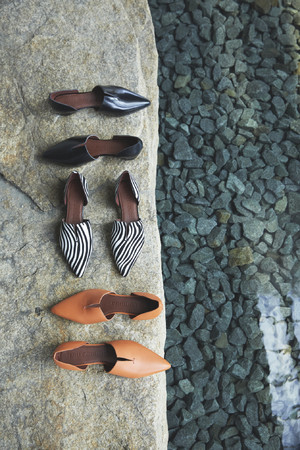 POINTED TOE SEPARATE PUMPS ¥18,700