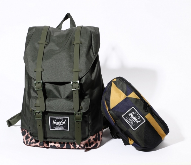 HERSHEL SUPPLY for ROSE BUD Backpack ¥12,800 Waist Pouch ¥3,800