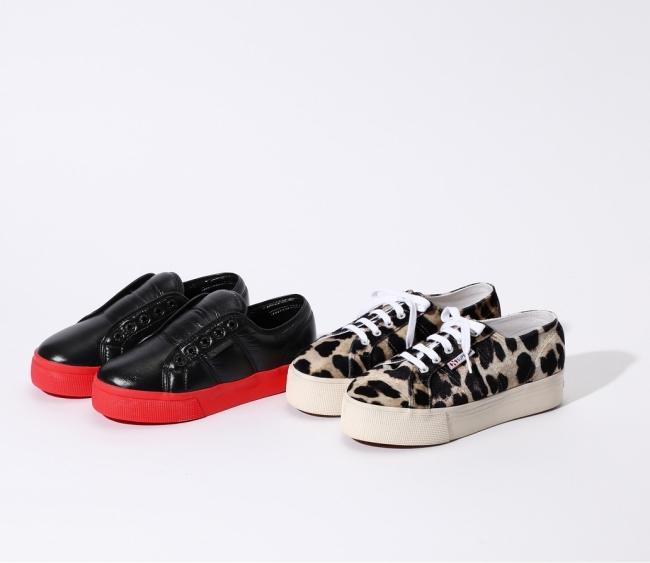 SUPERGA per ROSE BUD Platform Sneakers ともに¥9,800