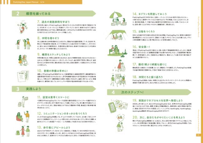 Park(ing)Day Japan Manual 2020 実践の心得 (プレイスメイキング・ガイド パーキングデーより抜粋)