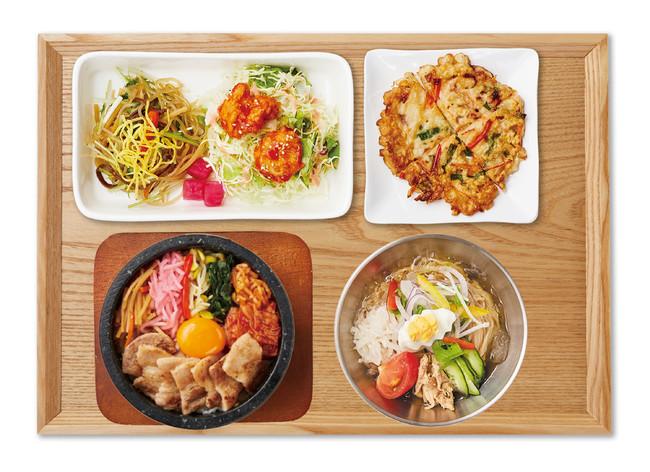 冷麺とサムギョプサル 石焼ビビンバセット(韓美膳)