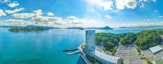 瀬戸内海に隣接するホテル(イメージ)