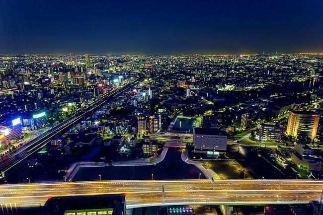 名古屋港・中川運河方面の夜景