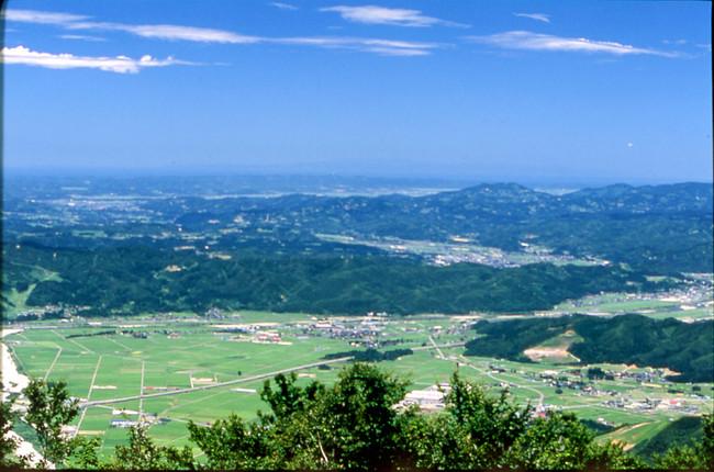 展望台からの眺望(佐渡島方面)
