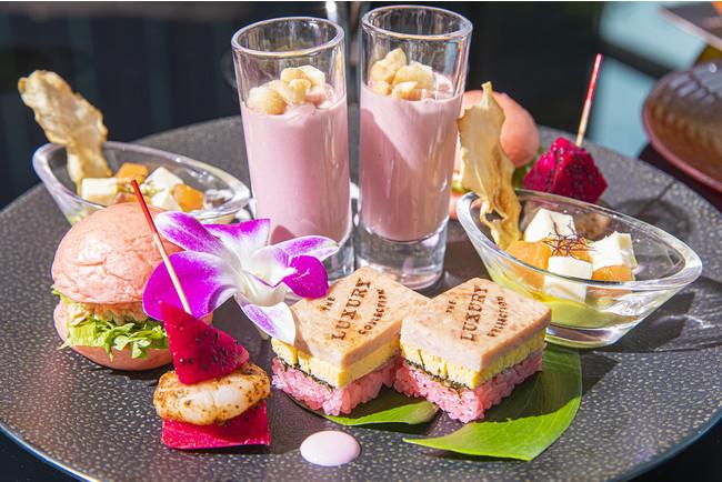 Pink Palace Afternoon Tea Inspired by The Royal Hawaiian Resort セイボリー イメージ(ザ・プリンスギャラリー 東京紀尾井町)