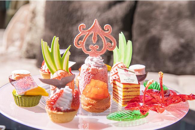 Pink Palace Afternoon Tea Inspired by The Royal Hawaiian Resort スイーツ イメージ(ザ・プリンスギャラリー 東京紀尾井町)