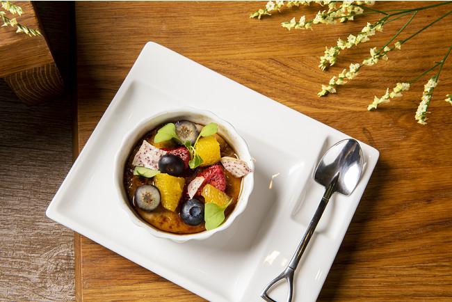 キャロブ豆と豆乳のクレームブリュレ