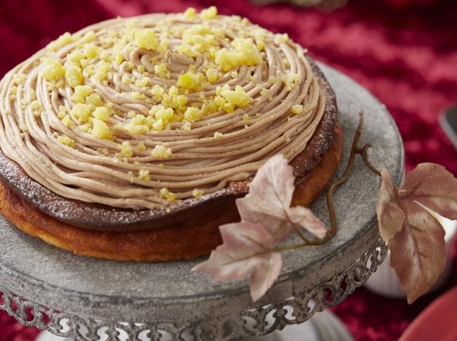 【Season1】モンブラン風ベイクドマロンチーズケーキ