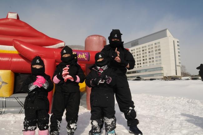 雫石スキー場 雪中忍者体験