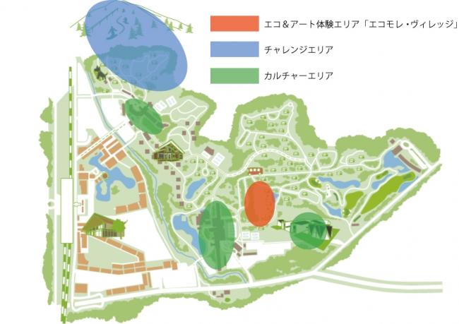 プリンスグランドリゾート軽井沢 エリアMAP