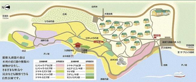 箱根 九頭龍の森マップ