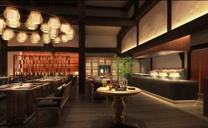 「日本料理からまつ」完成イメージ