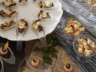 『スイーツ&ディナーブッフェ』で  提供するオードブル(イメージ)