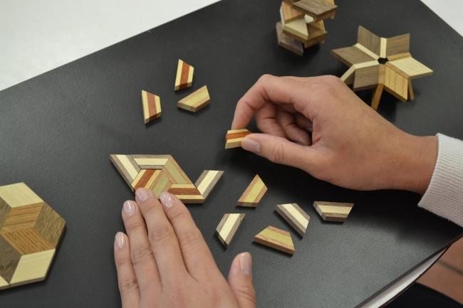 寄木細工コースター作り体験