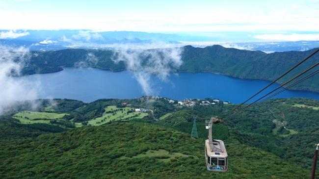 箱根駒ケ岳山頂からの芦ノ湖