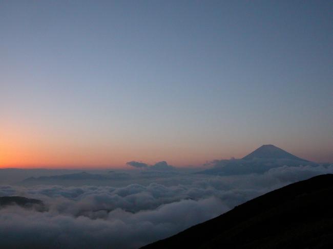 夕焼けと雲海