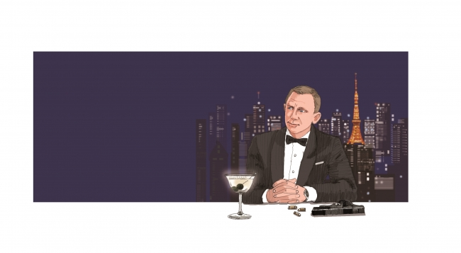ジェームズ・ボンドがカクテルを愛飲するシーン(イメージ)