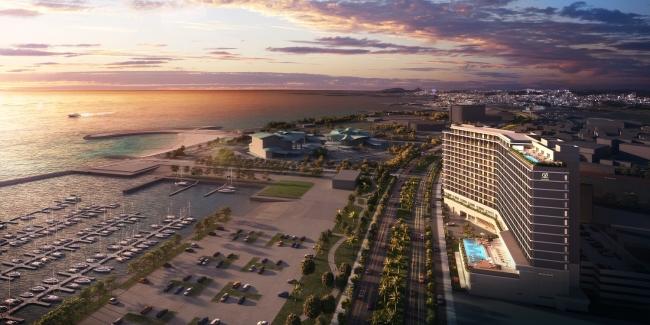 宜野湾 ホテル鳥観図イメージ