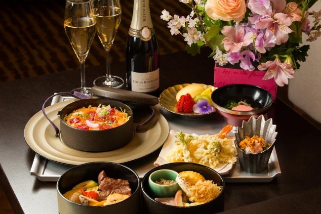 お花見弁当スタイルでご用意するご夕食(イメージ)
