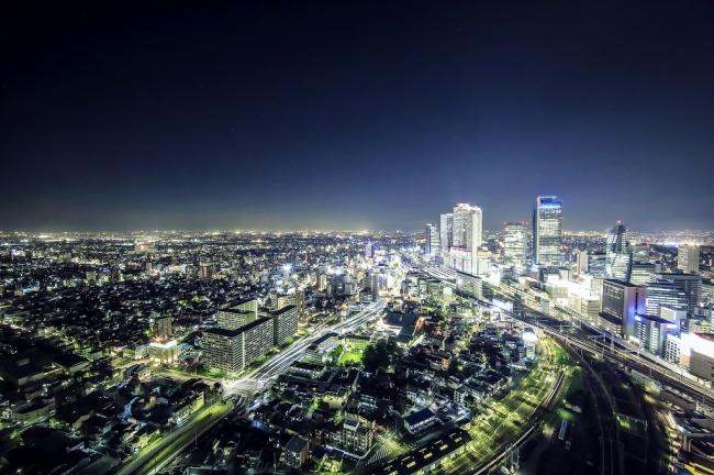名古屋の摩天楼を一望できる空間