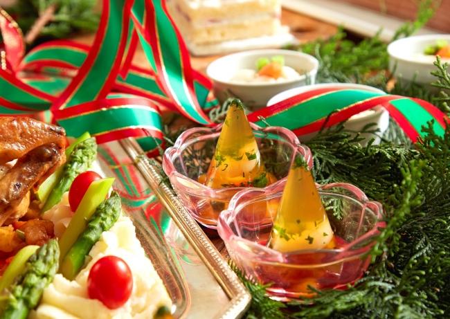 彩り野菜とシュリンプのゼリー寄せ (イメージ)