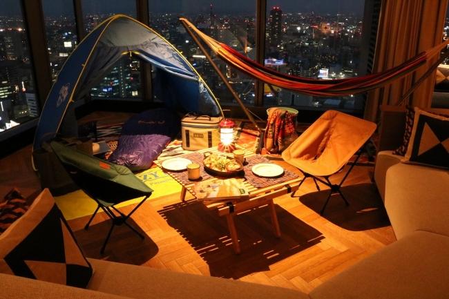 快適な空間でキャンプ気分