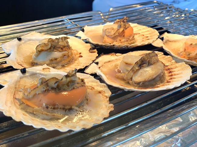北海道産帆立貝殻焼き(イメージ)
