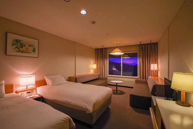 Wi-Fi完備、38平方メートル のゆったりとした客室