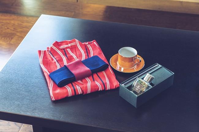 お選びいただけるホテルギフト(オリジナルアロマディフューザー、オリジナル浴衣、コーヒーカップ)