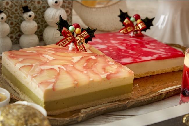 洋梨とピスタチオのムース赤い果実のムース(イメージ)