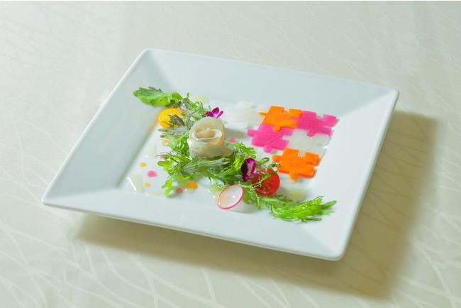 晴れの日のオードブル 福井県小浜産小鯛の笹漬け サラダ仕立て