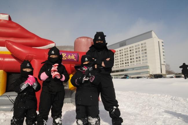 雫石スキー場 雪中忍者道場