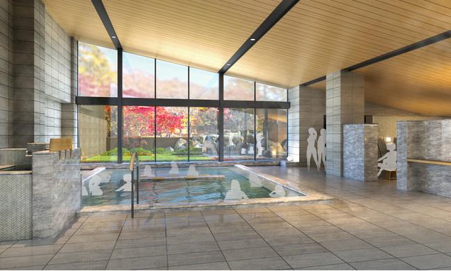 新温泉施設「MOMIJI HOT-SPRING」 内湯イメージ