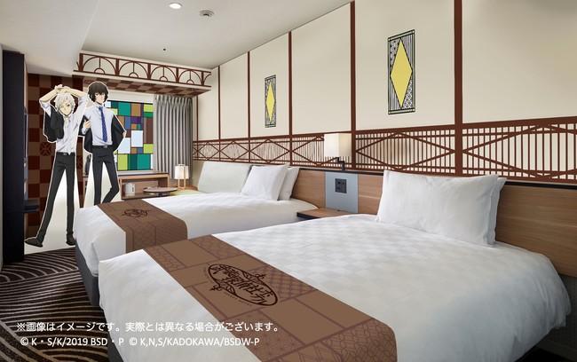 レトロな雰囲気に仕あげた「武装探偵社ホテル」客室/全8部屋(イメージ)