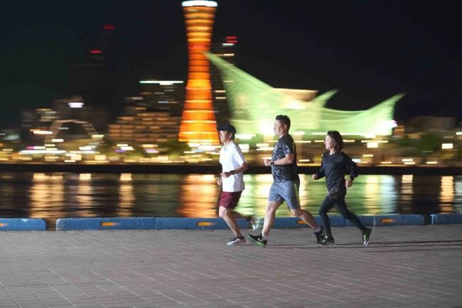 神戸港の絶景を眺めながらランニングを楽しむ「ナイトランクリニック」