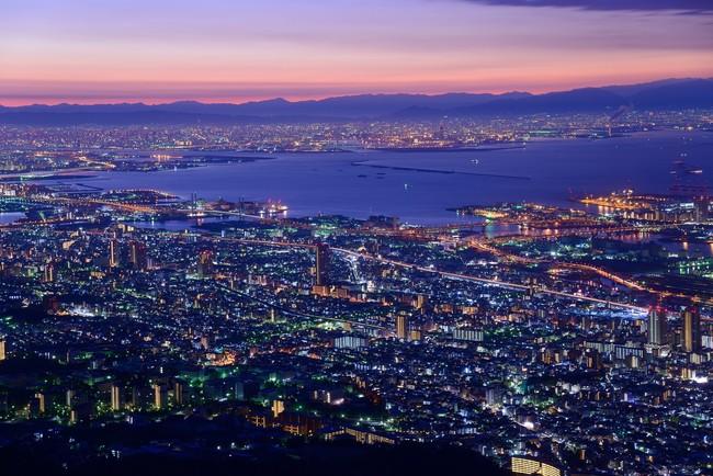 神戸の夜景(兵庫県)