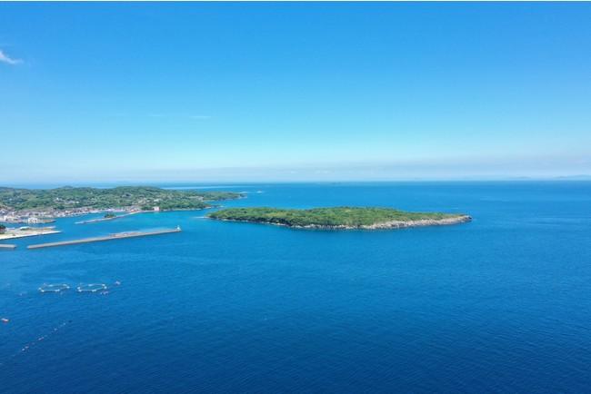 美しい海に囲まれた妻ヶ島
