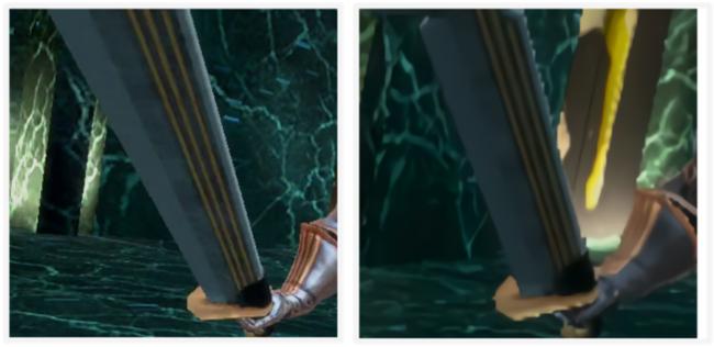 左よりOculus Quest 2、Oculus Quest 1グラフィックス比較画像