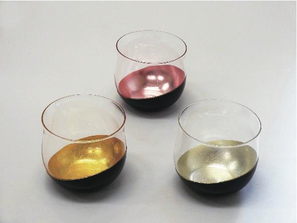 4/21(火)までの限定販売。静岡県の無形文化財にも指定されている、金剛石目塗による実用的なグラス「鳥羽漆芸」うるしの艶グラス 7150円