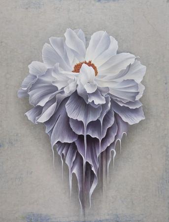 木村 佳代子「GRAVITY #2」 65.2×50.0cm、ミクスドメディア(アクリリック・和紙・キャンバス・木製パネル)