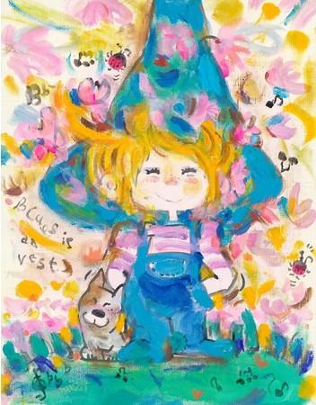 『僕の青空』 アーカイバル版画 41×32 cm
