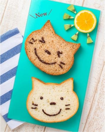写真上:いろねこ食パン(ちゃいろ)/写真下:いろねこ食パン