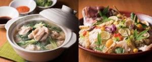 (左)水炊き (右)鯛飯(日替わり)