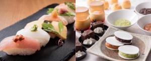 (左)にぎり寿司 (右)デザート